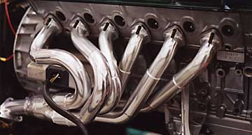 L Bmw 850 Engine Close Up Of Headers In Silver Thermal